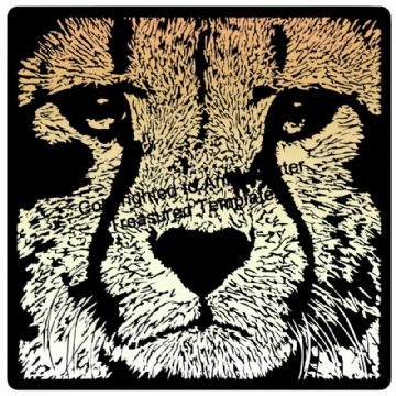 Cheetah Vinyl Design Template